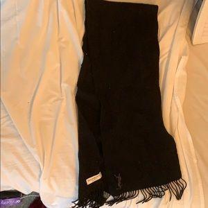 YSL black wool scarf